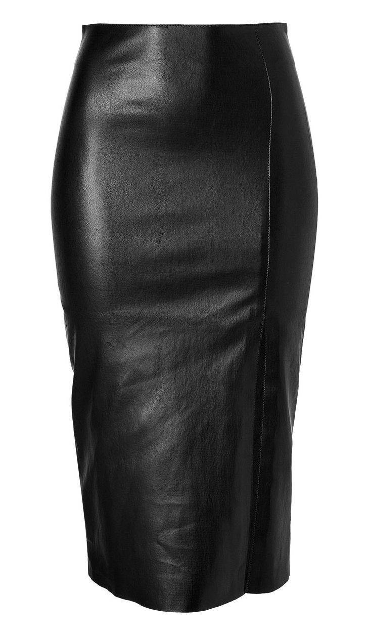Figure Hugging Stylish Womens Leather Skirt