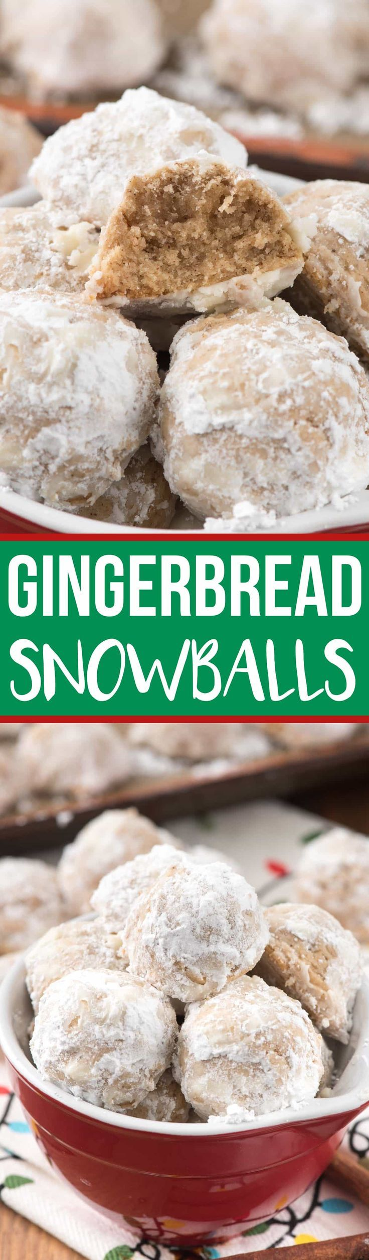 Gingerbread Snowballs are an easy Christmas cookie that combines the best of both family favorite recipes! via @crazyforcrust