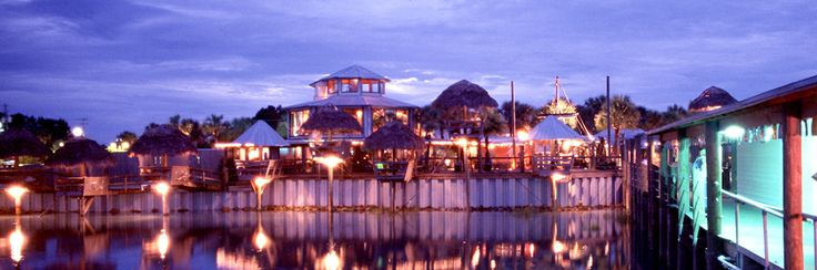 The Conch House St. Augustine, FL - go for lunch and ask for a tiki hut on the water.  You can watch the dolphins play while you eat!