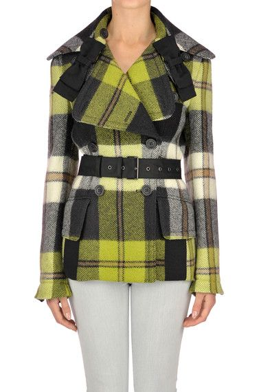 Buy Prada Coats on glamest.com Fashion Outlet, select the Prada Checked print coat of your choice up to 50% off.