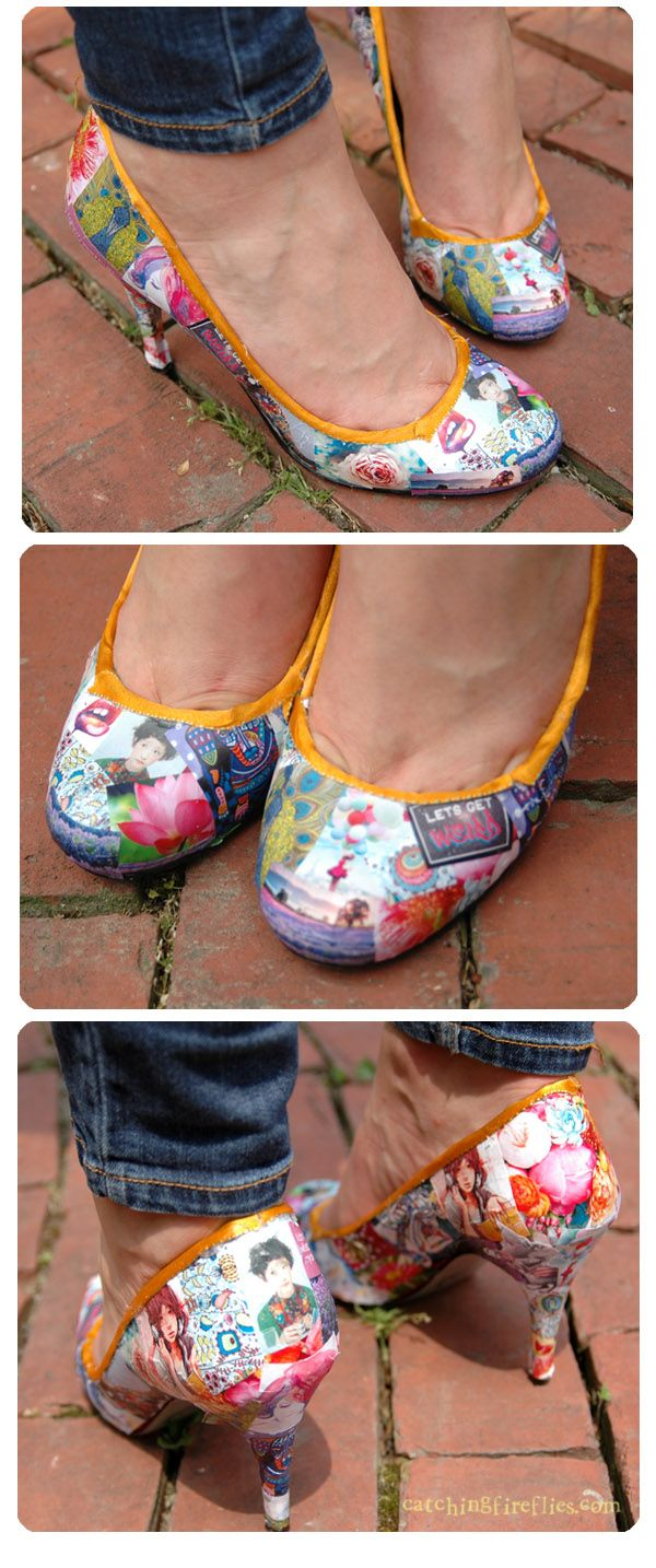 How to Decoupage Shoes | I'm doing this!!