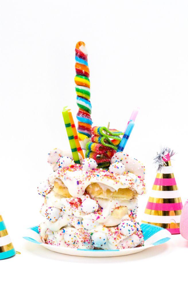 crazy birthday cake donuts...