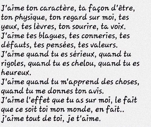 Image de amour, francais, and declaration