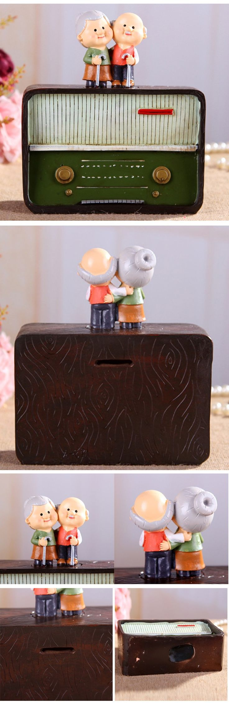 Handmade retro Radio Moneybox ornaments save cans the piggy bank/Resin craft Valentine's Day gift graduation pictures-in Money Boxes from Home & Garden on Aliexpress.com | Alibaba Group