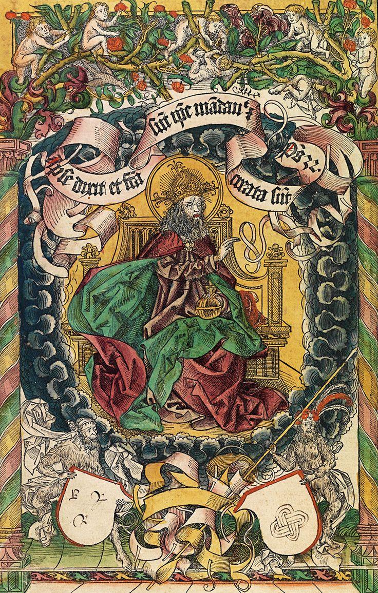CRÓNICAS DE NÚREMBERG. Dios creando el mundo. 1493.