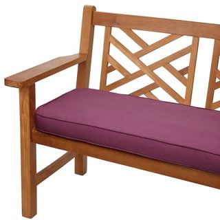 Purple Orchid 60-inch Corded Indoor/ Outdoor Bench Cushion with Sunbrella Fabric | Overstock.com Shopping - The Best Deals on Outdoor Cushions & Pillows