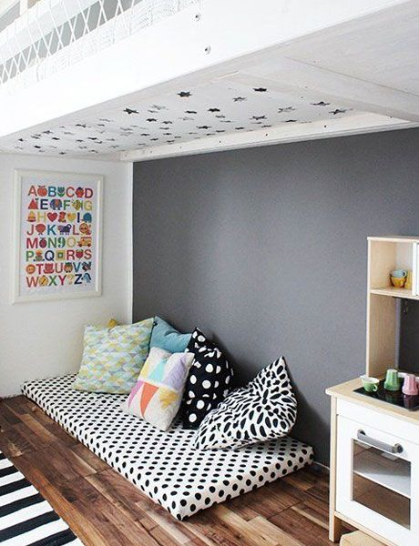 54 best images about nursery trends on the floor on - Camas en el suelo ...