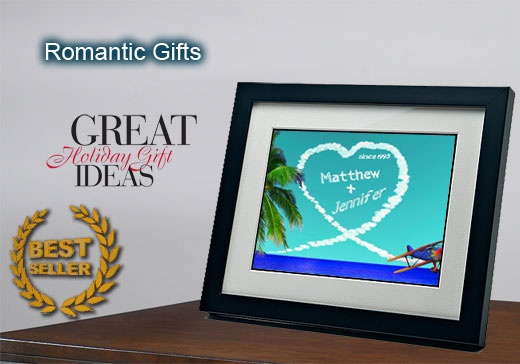 Personalized gifts - romantic sky writer clouds