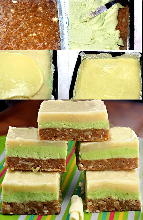 Easy, No-Bake White Chocolate Key Lime Bars with a Chewy Coconut Macadamia Graham Cracker Base