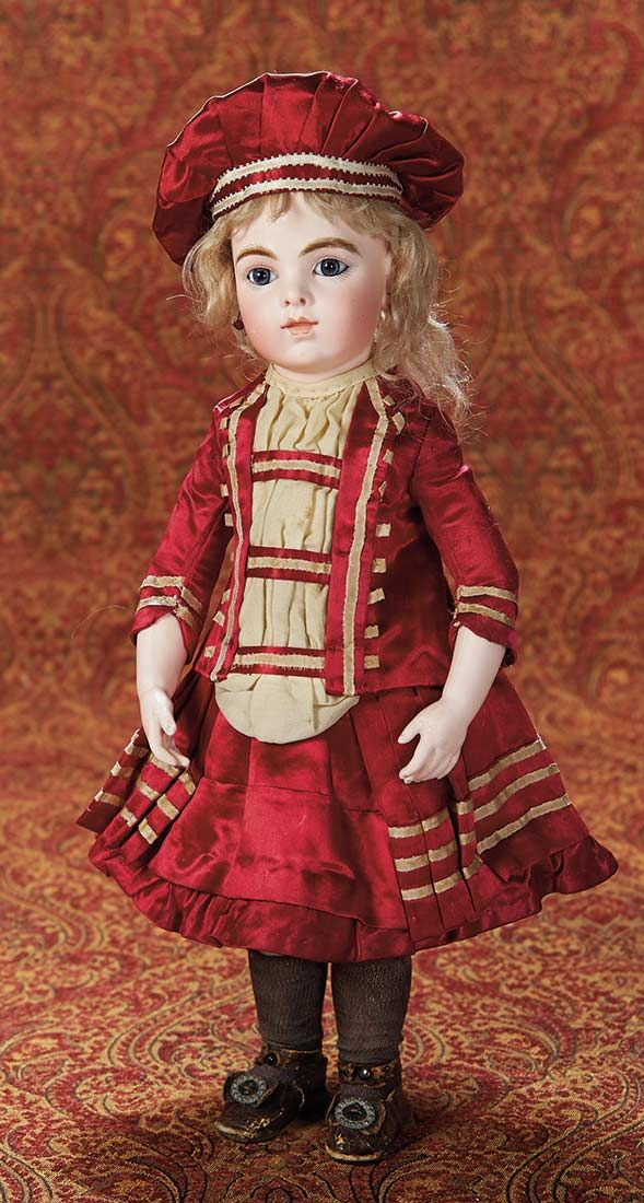 """Wonderful French Bisque Bebe Bru with Perfect Original Body and Signed Bru Shoes 17"""" (43 cm.)"""