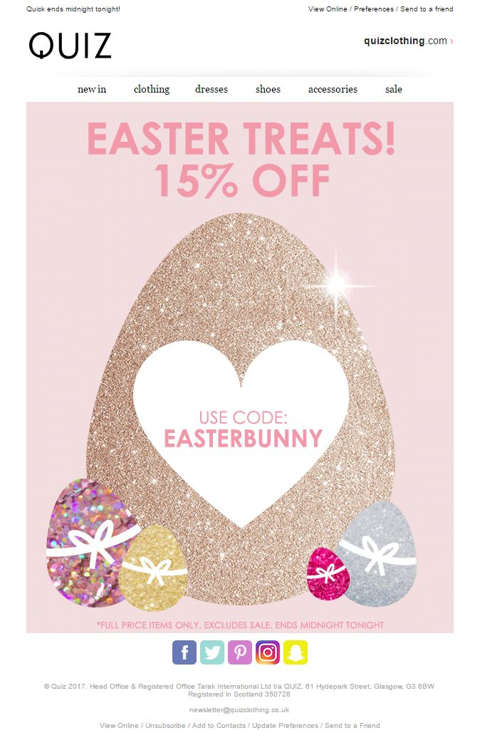 123 best easter emails images on pinterest easter offer email with coupon discount code from quiz emailmarketing email marketing negle Gallery