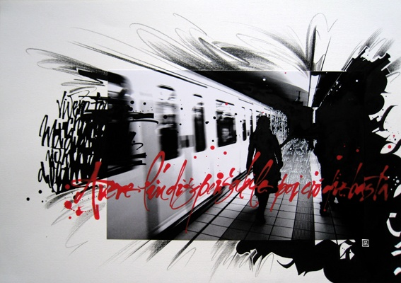 Alex Barocco interpretation of our pics taken in Barcelona,Spain.