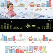 Truly amazing glow in the dark city wall stickers...magic awaits when the lamp is turned off and the cityscape comes to life!