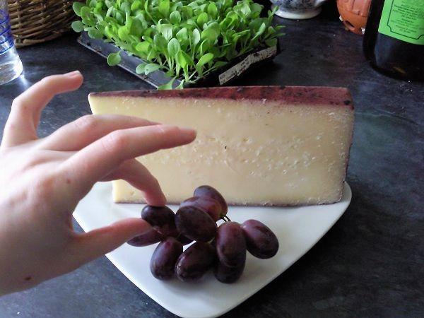 FORMAIO EMBRIAGO TREVIGIANO -La crosta è dura, di colore paglierino scuro se il formaggio proviene da vinacce bianche, di colore viola, anche scuro, se da vinacce rosse. La pasta è semidura, di colore bianco o paglierino. L'occhiatura è quella del formaggio di origine, ma tendenzialmente di dimensione fine, regolarmente distribuita.E' un formaggio da tavola da consumare con uva nera o mostarda. I vini consigliati per l'abbinamento sono Latisana del Friuli Cabernet, Lison Pramaggiore…