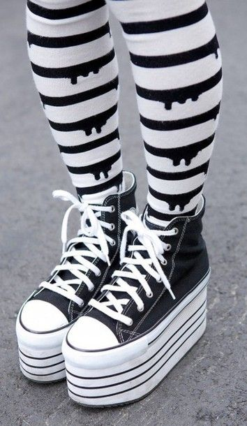 pants tight pastel goth cute kawaii converse platform shoes shoes lovin these shoes could use a few inches