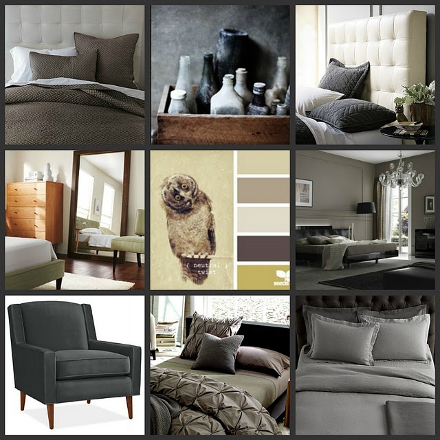 Gray Taupe And White Bedroom Curatins: Gray, Brown, And Taupe Bedrooms
