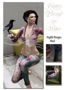 8 Colored and Floral Jeans  - Texture HUD II