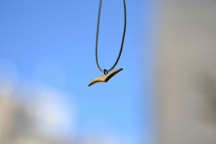 Seagull Pendant Handmade Solid 18k Gold by ViazisJewelry on Etsy
