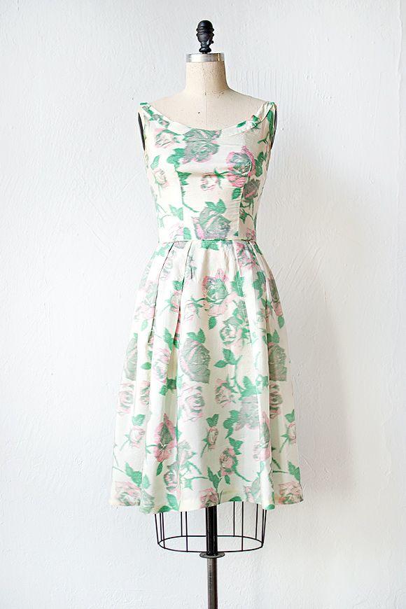 vintage 1950s dress   Idleness of Spring Dress