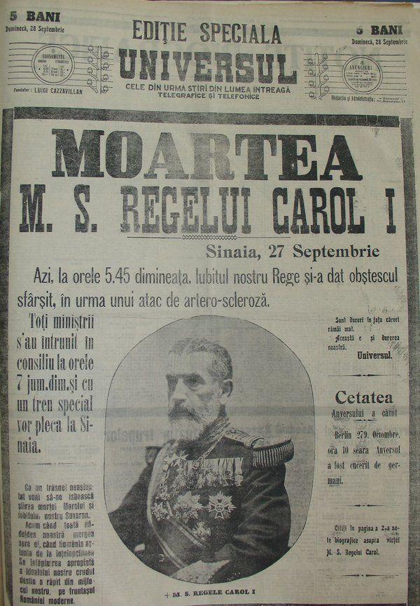 MORTE DI CARLO I DI ROMANIA