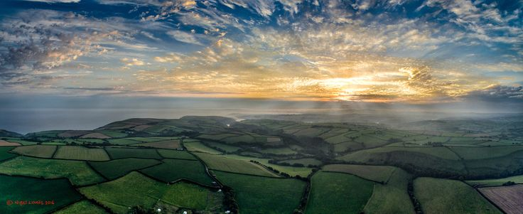 A Cornish Sunset - Aerial view over Polperro