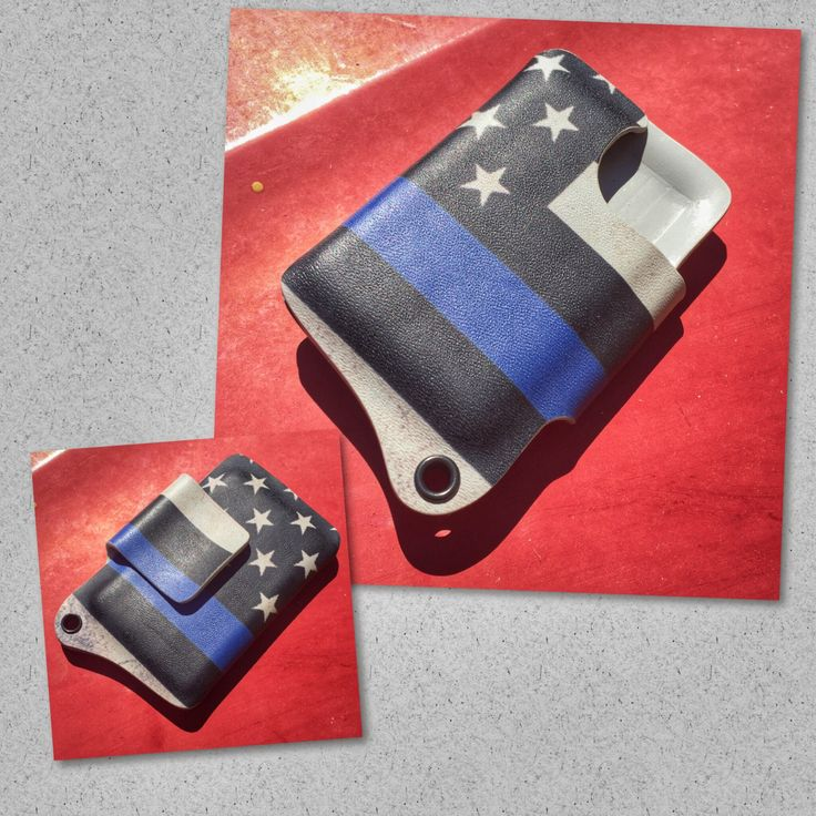Kydex Wallet With Money Clip- Thin Blue Line