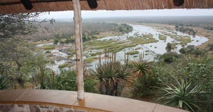 Guests visiting Olifants Rest Camp are treated to amazing views from high on a hill top as the camp is situated above the Olifants River.