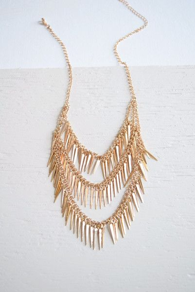 Layered Spikes Necklace - MOD&SOUL Fashion Clothing and Jewelry  - 1