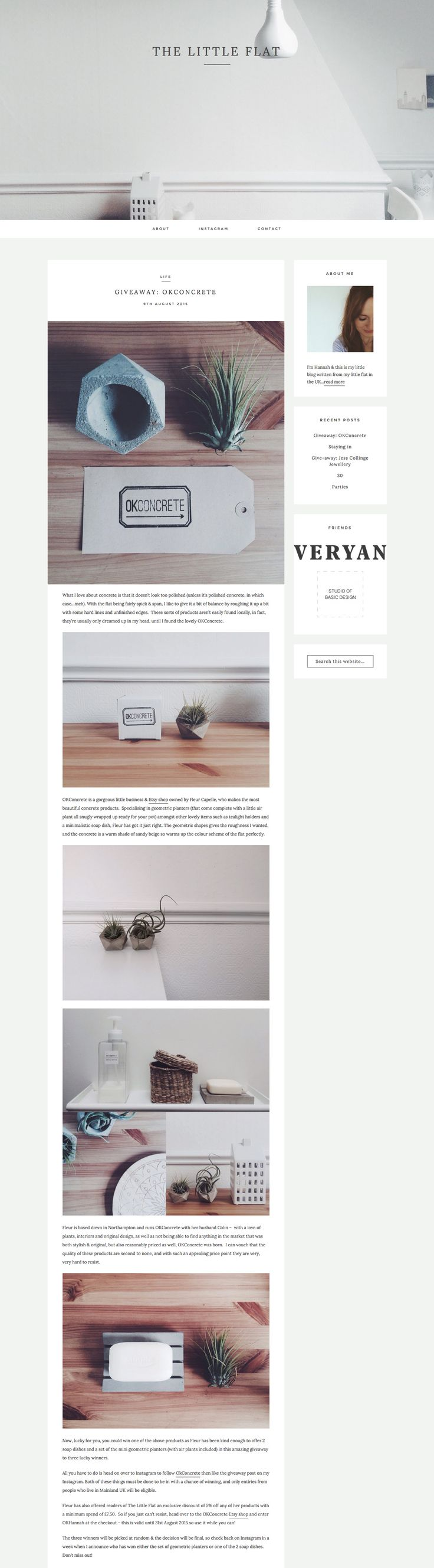 The Little Flat got minimalism just right with their lovely new site running on Station Seven's Kindred theme. #webdesign #wordpress
