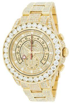 Rolex Yachtmaster II 116688 18K Yellow Gold 30ct Custom Diamonds Timer Men's Watch. Get the lowest price on Rolex Yachtmaster II 116688 18K Yellow Gold 30ct Custom Diamonds Timer Men's Watch and other fabulous designer clothing and accessories! Shop Tradesy now