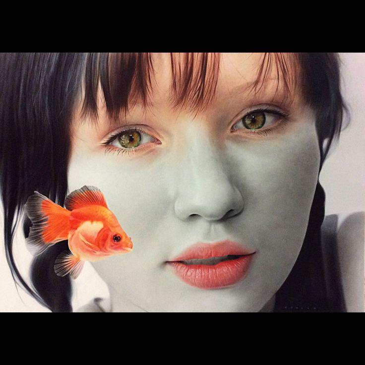"""Cömert Doğru """"Heterochromia"""" 130x180cm/acrylic on hardboard/2015"""