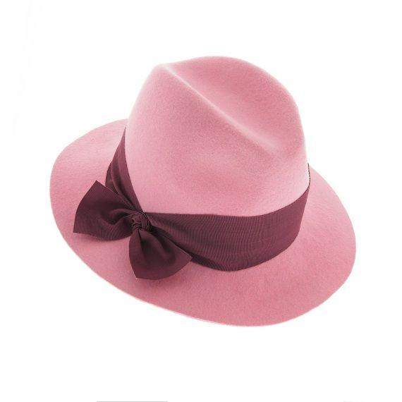 Mademoiselle Slassi - Fedora La Vie en Rose - chapeau105 copie SMALL