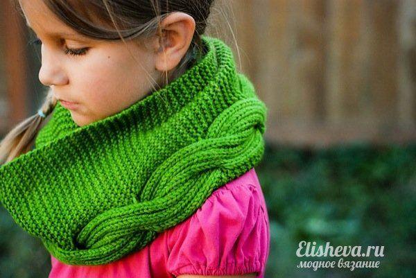 Детский снуд Millwater вязаный спицами | Блог elisheva.ru