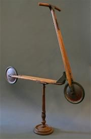 Children's French Antique wooden toy scooter