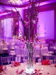 New Brunswick Hyatt Wedding Designs Tall Centerpiece 7 8 Maharani Post