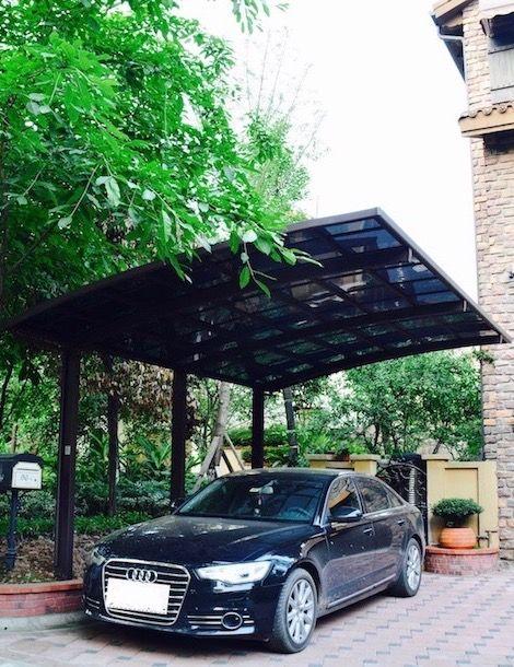 Magnifique carport design auto porté en aluminium.