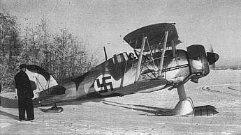 Gladiator fighter of Flying Regiment 19 'Swedish Voluntary Air Force' of the Finnish Air Force, date unknown