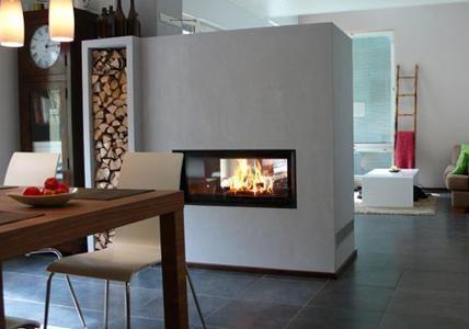 "Kamin: 14 Mal anders!: Kamin ""Architektur 45/101"" von Brunner | LIVING AT HOME"