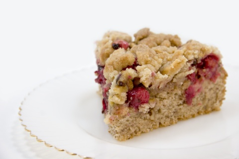 Cranberry Coffee Cake, with streusel topping {#vegan}