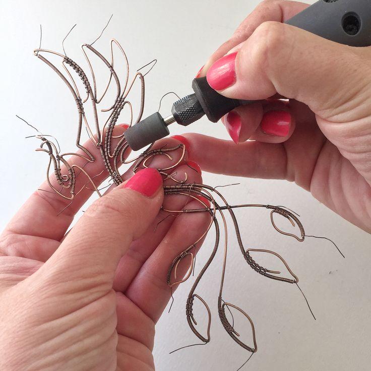 Wire art - polishing Instagram @springstring