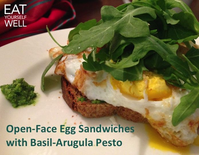 Open Faced Egg Sandwich, with Arugula-Basil Pesto July 27, 2014 by ...