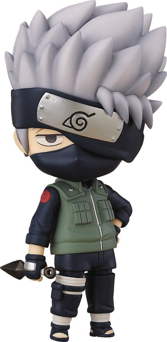 Good Smile Naruto Shippuden Kakashi Hatake Nendoroid Action Figure. A Good Smile import. From the hit anime series. Includes three face plates for multiple expressions. Optional lightning blade effect parts. Numerous posing options.