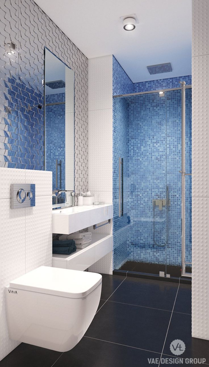 Blue bathroom designs - Inspiration To Arrange Minimalist Bathroom Designs With Backsplash Decorating Ideas