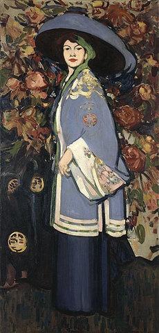 John Duncan Fergusson (Scottish 1874 -1961) - Le manteau chinois 1909. The Fergusson Gallery, Perth, Scotland.