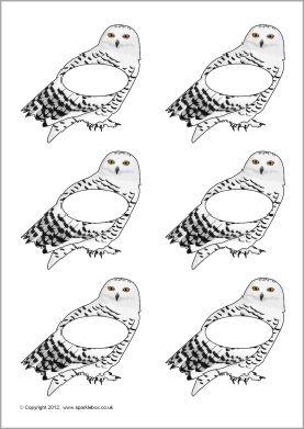 Pupil self-registration snowy owls (SB8526) - SparkleBox