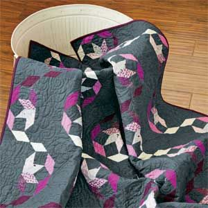 Ribbon Candy: FREE  Pieced Lap Quilt Pattern
