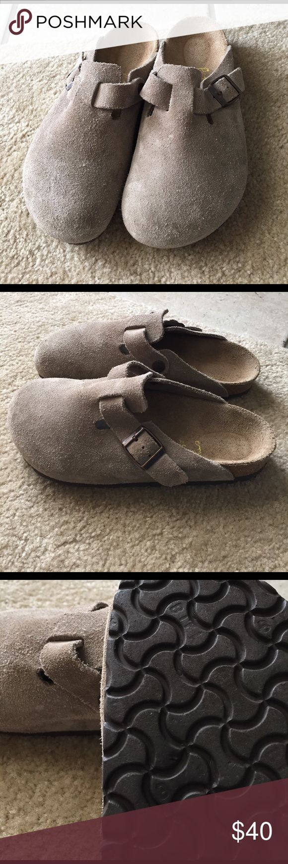 Suede BIRKENSTOCK size 37 /7 Good condition Birkenstock Shoes Mules & Clogs