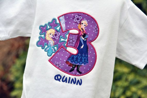 Personalized Anna and Elsa Snow Queen Snowflake Birthday Shirt  / Frozen on Etsy, $25.00