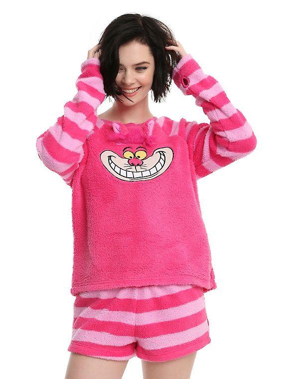 Disney Alice In Wonderland Cheshire Cat Girls Plush Short Sleep Set, PINK