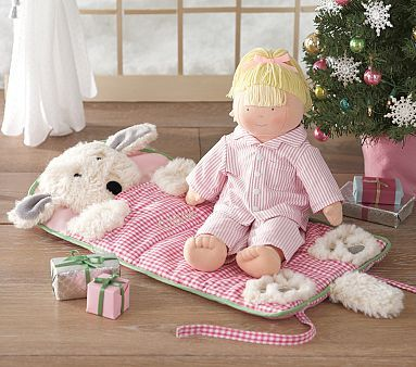 Doll Sleeping Bag #PotteryBarnKids.  Fits american girl.  Matching sleeping bag for your daughter